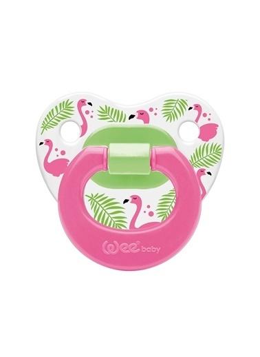 Wee Baby Wee Baby Flamingo Desenli Damaklı EmzikNo:2 Renksiz